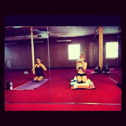 L and I at Bikram.