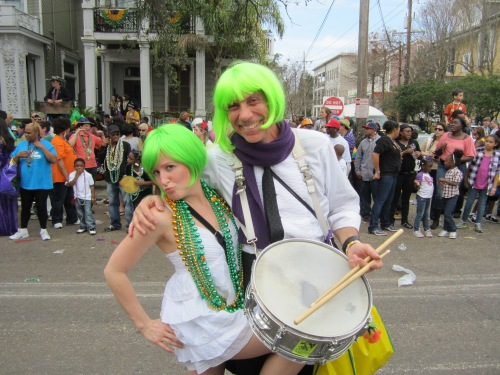 I wore a green wig!