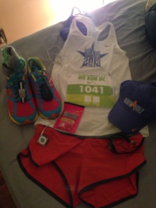 Night before race clothes