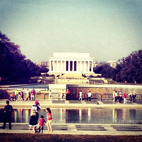 The Lincoln, Reflection Pool, WWII memorial.