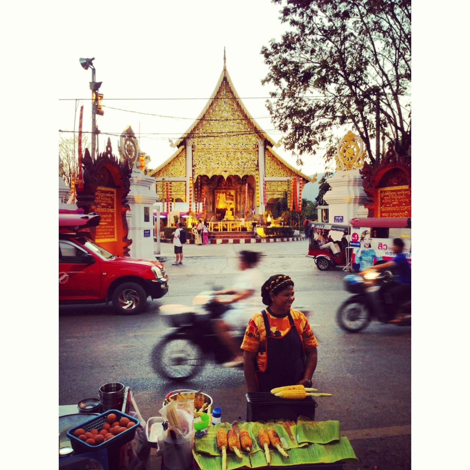 Chiang Mai corn lady